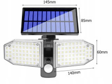 STRAAT ZONNE LAMP HALOGEEN 78 LED SMD SH-078